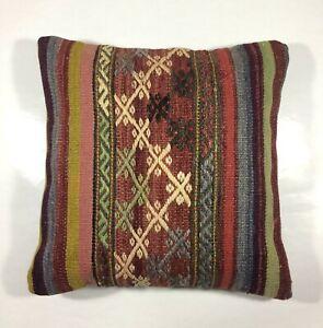 decorative pillow home decor Turkish pillow Kilim cushion vintage pillow Kilim accessory square pillow 20x20 Pillow kilim pillow