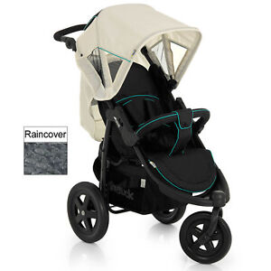 NEW HAUCK CAVIAR / BEIGE VIPER 3 WHEEL PUSHCHAIR STROLLER FROM BIRTH BABY BUGGY