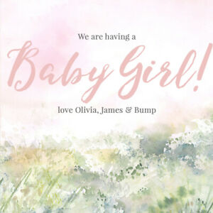 GENDER REVEAL BABY GIRL INSTAGRAM POST, ONLINE DIGITAL FILE