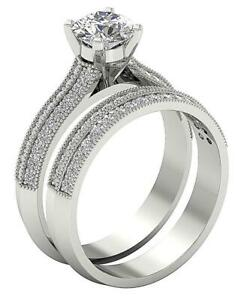 Bridal-Engagement-Ring-Round-Diamond-SI1-G-1-35-Carat-14K-White-Gold-9-50-mm