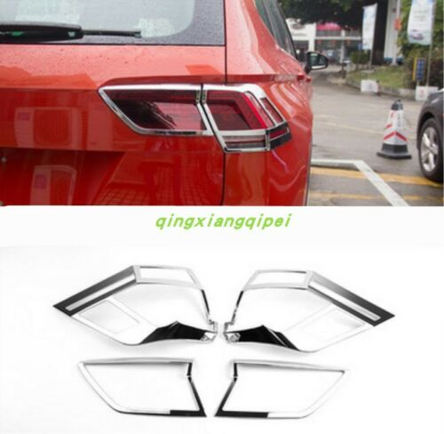 Chrome Rear Tail Lamp Tail Light Cover Trim For Volkswagen VW Tiguan 2017 2018