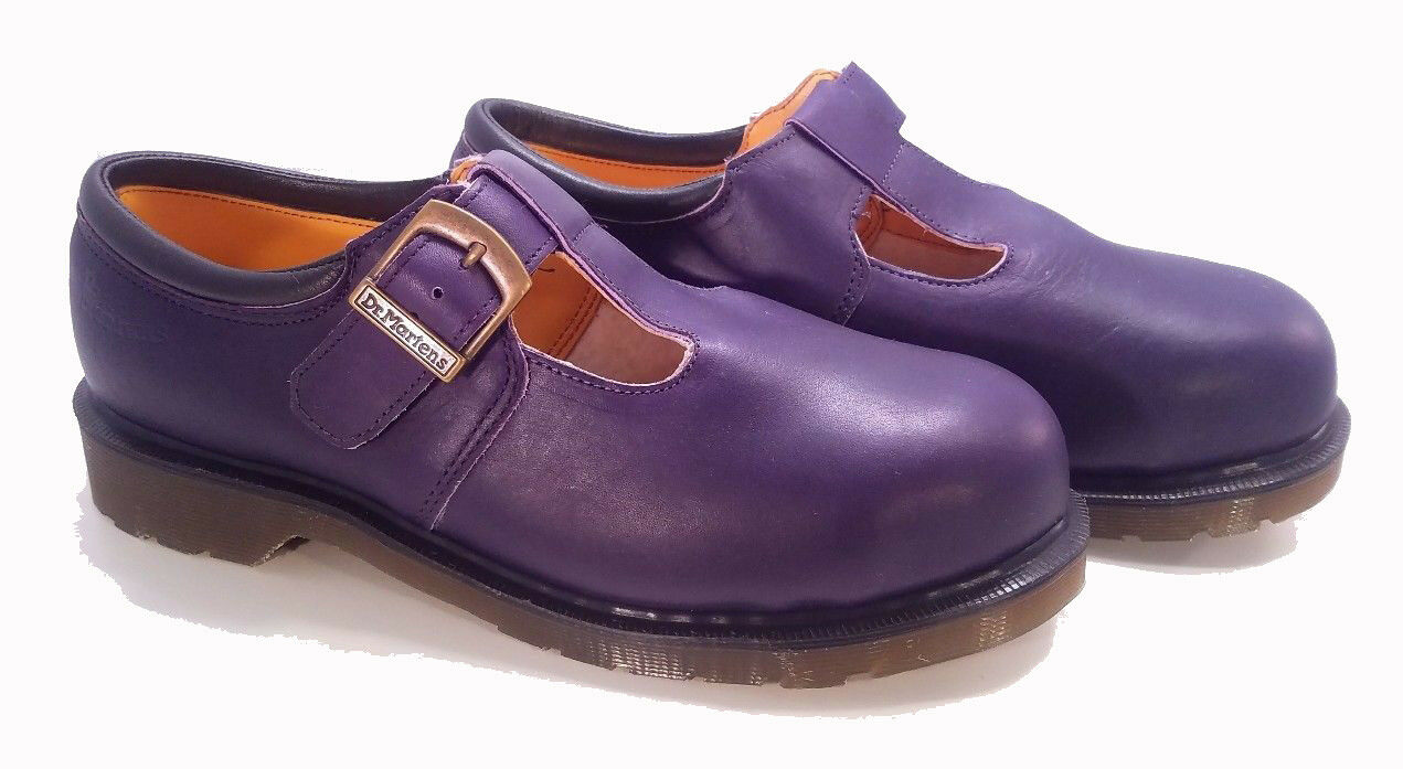 Dr. Martens England Rare Vintage Iris Steel Toe Mary Janes UK4  6