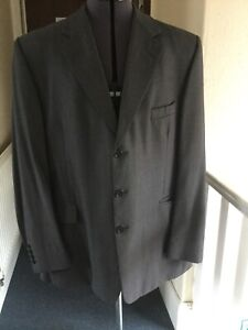 Austin Reed Mens Grey Single Breasted Suit Jacket 46 Regular Wool Ebay