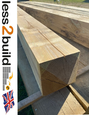 Timber Fence Posts 3x3 4x4 6x6 Treated Timber Fencing Gate Post 75mm 100mm 150mm