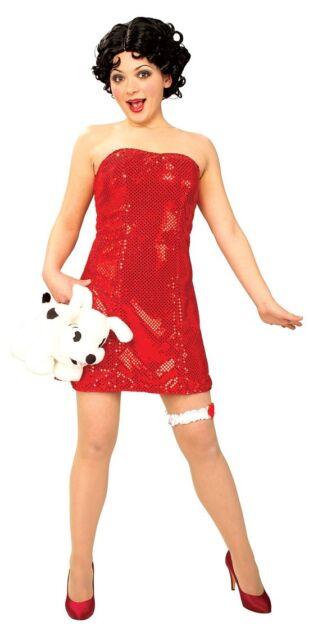 1920/'s Fashion Flapper Bettie Boop Teen Girls Costume
