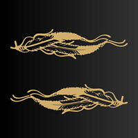 Indian Feathers Native Decal Stickers SETof2 (3.5x13.5)