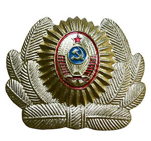 Soviet-USSR-Russian-Army-Military-Police-Hat-Cap-Uniform-Beret-Metal-Pin-Badge