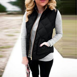 Fashion-Women-Coat-Sleeveless-Winter-Warm-Vests-Jacket-Outwear-Waistcoat-Black