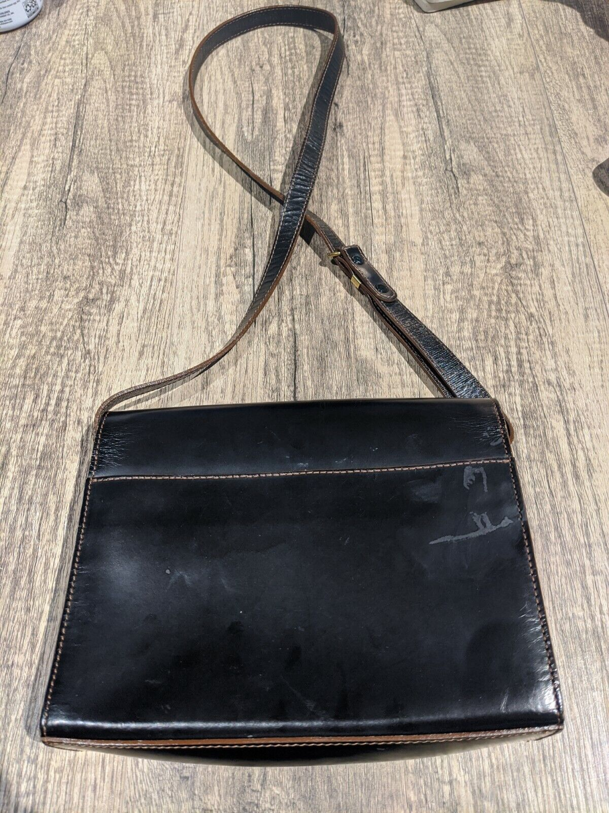 Authentic Marie Claire Black Small Leather Handbag - image 2