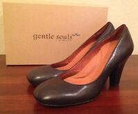 $185 Gentle Souls Fortune Stella Kd Black Heels Shoes Pumps Womens 9 1/2 M