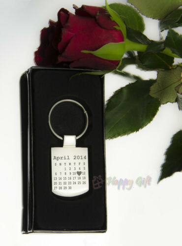 BOXED Engraved CALENDAR design The day you became my .. personalised Metal