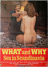 Orig.-Filmplakat What and Why: Sex in Scandinavia 1973 Torgny Wickman Erotik