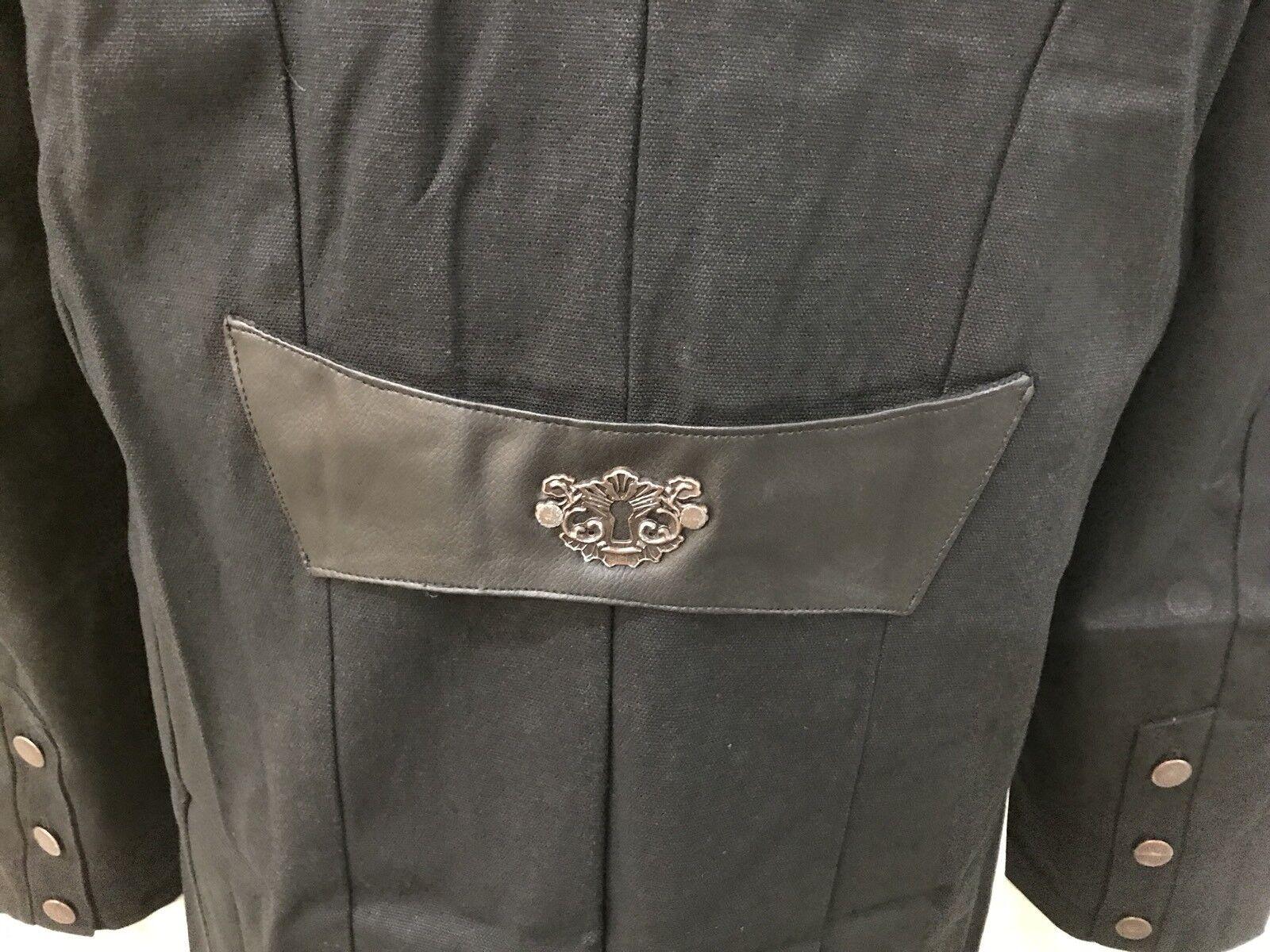 NUOVI uomini fatti a mano nero Hellraiser Hellraiser nero Pinhead Goth Punk Vampiro Giacca Trench Cappotto 0e463d