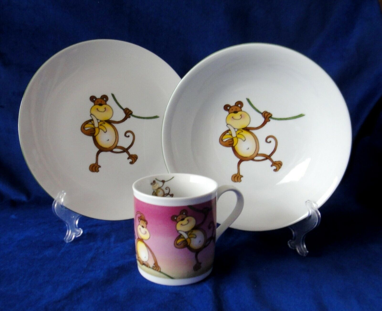 Monkey   Kids Dinnerware Plates and Mug Kit
