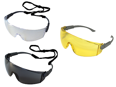 1,6 or 12 Pairs UCI I707 Solomon Safety Glasses Eye Protection Clear /& Smoke