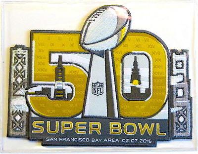 SUPER BOWL 50 ~ DENVER BRONCOS & CAROLINA PANTHERS Willabee Ward NFL PATCH  ONLY