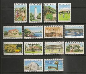Barbados #982-995 VF MNH - 2000 5c To $10 - Sites In Barbados - SCV $44.50