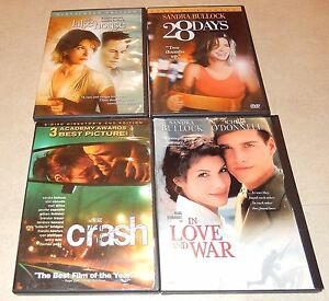 Lot-of-4-Sandra-Bullock-DVD-5-Discs-WS-FS-Love-War-28-Days-Crash-Lake-House