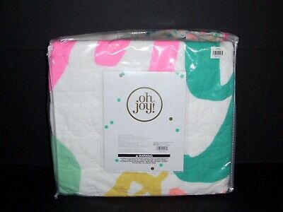 Oh Joy 4 piece Crib Set Neon Abc Alphabet Baby Bedding New