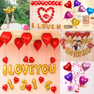 new heart foil balloons wedding engagement party birthday