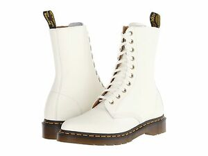 a9d799f76606 Dr. Martens Women s Alix Pointy Toed 10 eye Zip White Boots US 9 EU ...