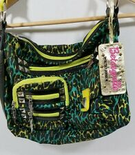 Betseyville Betsey Johnson Animal Print Studded Leopard Tote Bag Hobo Purse A278