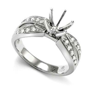 950-Platinum-30-cwt-Diamond-Ring-Setting-Mounting-10-0-Grams-R1705