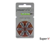 Powerone Mercury Free Hearing Aid Batteries Size 312 (18 Cells) Pr41