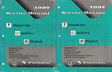 1997 Grand Am Achieva Skylark Shop Manual Set 97 Buick Pontiac Oldsmobile Olds