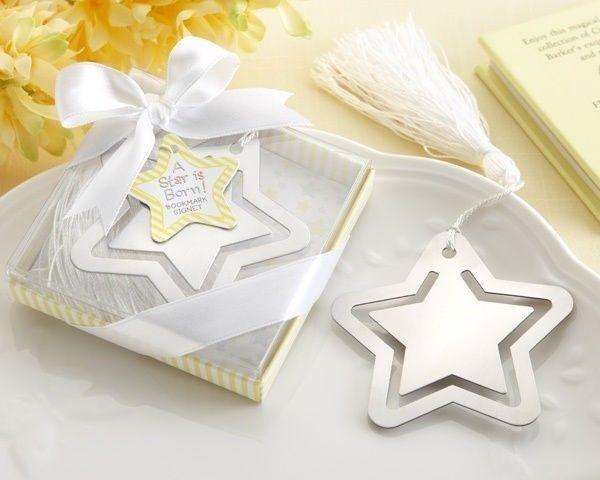 48 A star est né  en métal argenté Signet Baby Shower Coffret Fête Cadeau Faveurs