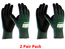 Pip Atg 34 8743 Maxiflex Cut Green Engineered Yarn Black Gloves 2 Pair Pack