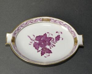 Herend-Hvngary-Porzellan-Aschenbecher-oval-7783-AP-Apponyi-purpur