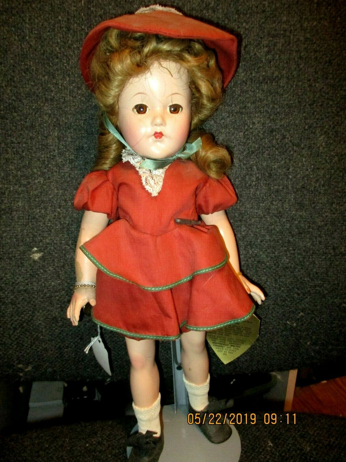 1938 Composition 15  Effanbee Tagged Glory Doll A Little Lady Super Rare Find