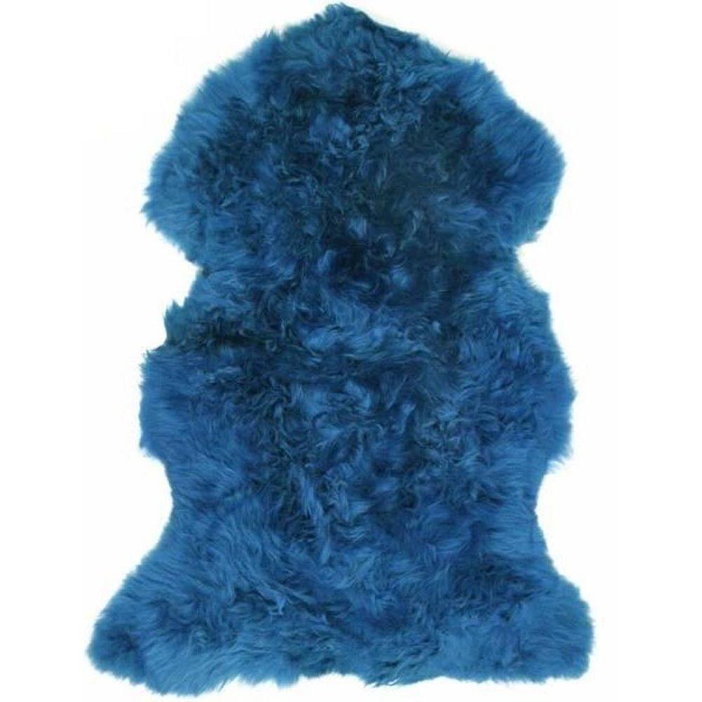 Extra masquer Large UK Made Véritable Peau De Mouton Tapis masquer Extra Pelt Bleuet Bleu ea5dc3