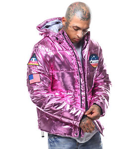 02e9e8cd2 Details about Champion Life™ Metallic Puffer Jacket Rose Mens Large