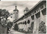 Ansichtskarte Rothenburg ob der Tauber - Wehrgang -schwarz/weiß