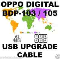 Oppo Digital Bdp-103 Bdp-105 Darbee Region Usb Hardware Upgrade Usb Cable Kit