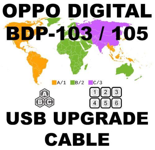 OPPO DIGITAL BDP-103 BDP-105 DARBEE REGION USB HARDWARE UPGRADE USB CABLE KIT
