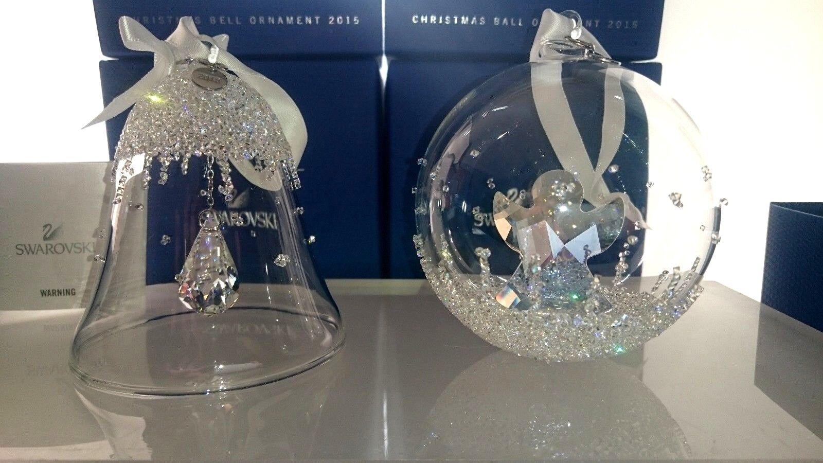 SWAROVSKI de OrnaHommes t 2015 de SWAROVSKI Noël Boule + cloche CHRISTMAS BALL + Bell 5135821 NEUF c42c51
