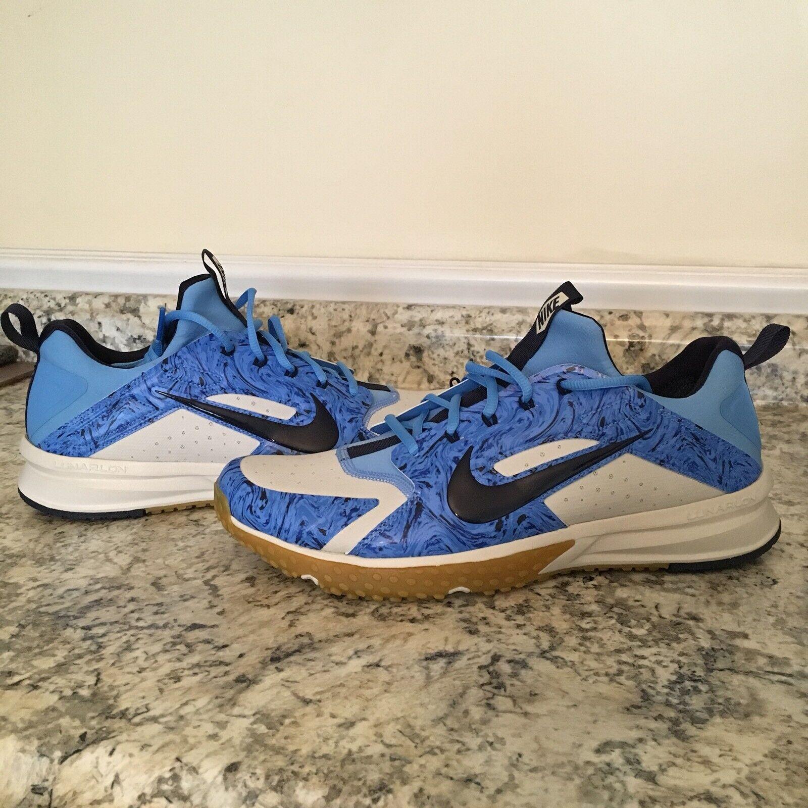 NEW Nike Air Huarache Turf Baseball Trainers bluee 923435-004 Men's Sz. 12