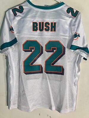 Reebok Women's NFL Jersey Miami Dolphins Reggie Bush White sz L | eBay