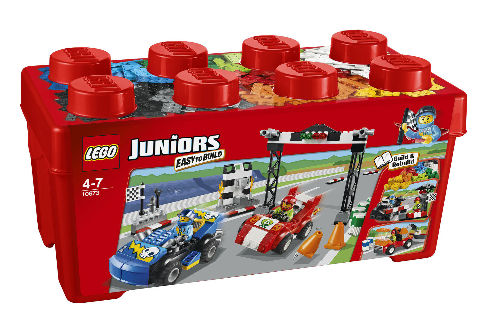LEGO® Juniors 10673 Große Steinebox Ralley NEU OVP_ Race Car Rally NEW MISB NRFB