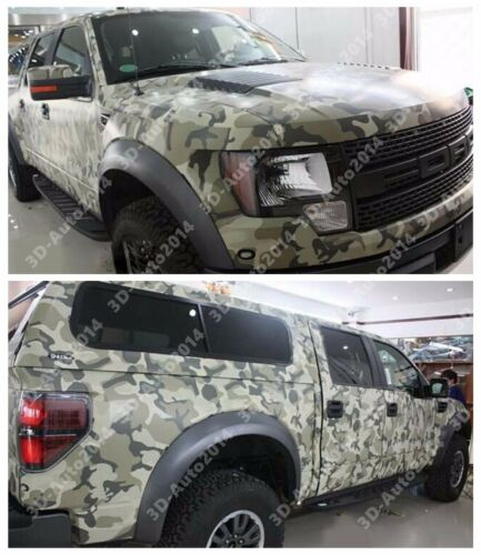 9ft X 5ft Deset Camouflage Decal Vinyl Film Wrap Sheet With Air Release