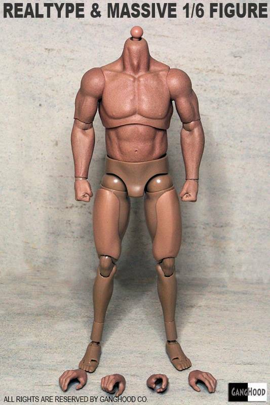 1 6 Emulated Muscular Body GangHood For For For Hot Toys Bane Arnold Head SHIP FROM USA 24d57a