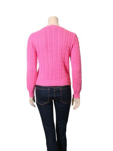 Knit Cable Størrelse Pink Lauren M Sweater Ralph q7P1ZycaK