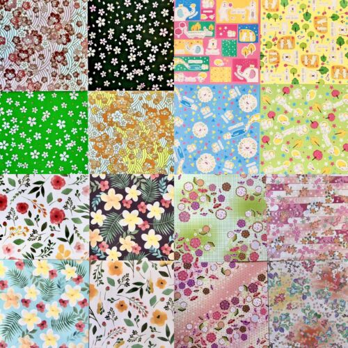 15 mixed Origami Japanese fancy Papers