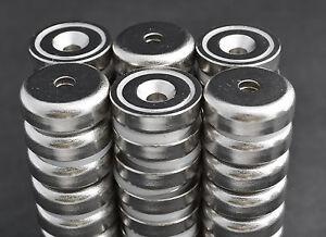 """2 pcs POT MAGNETS 1 1//4/"""" x 5//16  32x8mm 50lb//25lb PULL FORCE US SELLER"""