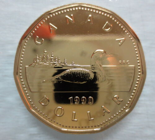 1990 CANADA LOONIE PROOF-LIKE ONE DOLLAR COIN