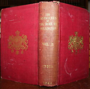 1844-Dispatches-India-Field-Marshall-Duke-of-Wellington-Volume-1-General-Gurwood