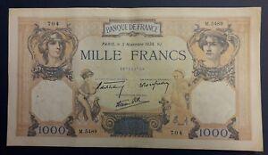 1000 Francs Ceres Et Mercure Type 1927 Modifié - 03/11/1938 - N°4 Wnx8dc3t-08011924-913844812